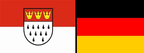 The flags of Köln and Deutschland